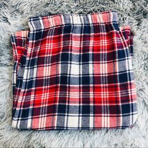 Blis Plaid Wide Leg Pajama Bottoms Red